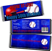 Baseball Theme Men's Birthday Candy Wrappers