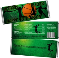 Basketball Theme Men's Birthday Candy Wrappers