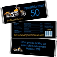 Motorcycle Fast & Furious Men's Birthday Candy Wrappers