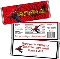 Spiderman Men's Birthday Candy Wrappers