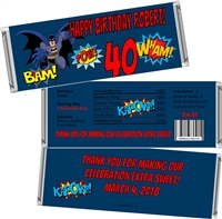 Batman Men's Birthday Candy Wrappers