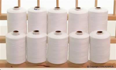 Heavy Duty Xtra Strong 3-Ply Polyester White Thread