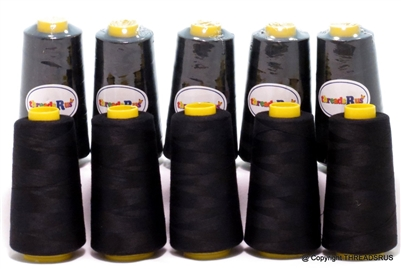 10 Large Cones with 3000 Yards of Polyester Thread