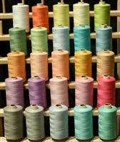 25 Large Spools of 3-PLY Polyester threads - Assorted Pastel Colors