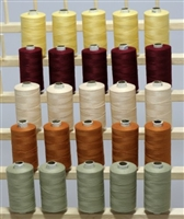 ThreadNanny 25 Large Spools of 3-PLY Polyester Sewing Quilting Serger Thread
