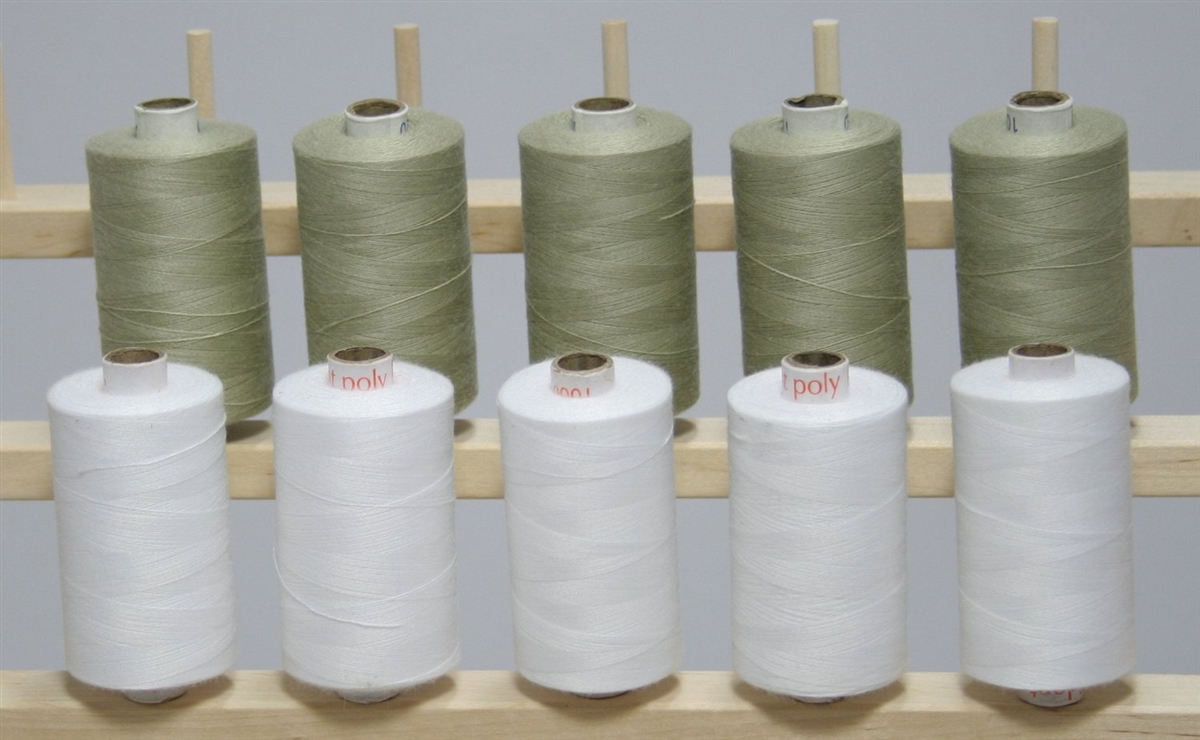 Black White Large Spools Finest Quality Sewing All Purpose 100/% Polyester Thread
