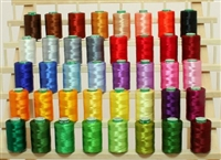 40 Large Vibrant Colors Embroidery Thread Set