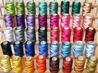 ThreadNanny 40 Large Spools Embroidery Threads for Brother Machine