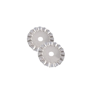 45mm Rotary Cutter Decrotative Wave Blade Set of 2