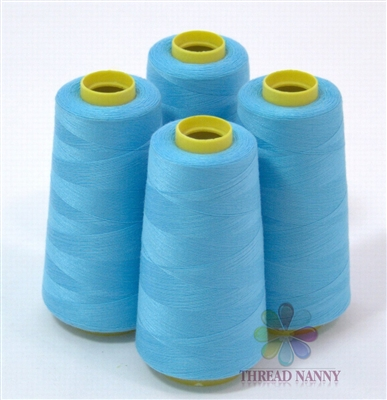 4 Large Cones of Polyester thread in Aquamarine with 3000 yards each