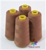 4 Large Cones of Polyester thread in Brown with 3000 yards each