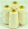4 Large Cones of Polyester thread in Beige with 3000 yards each