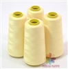 4 Large Cones of Polyester thread in Cream with 3000 yards each