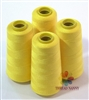 4 Large Cones of Polyester thread in Canary Yellow with 3000 yards each