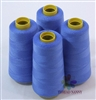 4 Large Cones of Polyester thread in Cobalt Blue with 3000 yards each