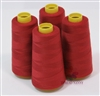 4 Large Cones of Polyester thread in Dark Red with 3000 yards each