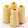 4 Large Cones of Polyester thread in ECRU with 3000 yards each