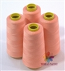 4 Large Cones of Polyester thread in Flesh Tone with 3000 yards each