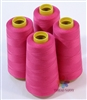 4 Large Cones of Polyester thread in Fuschia with 3000 yards each