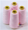 4 Large Cones of Polyester thread in Light Pink with 3000 yards each