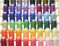 50 Large Premium Cones of Poly Embroidery Thread<br />