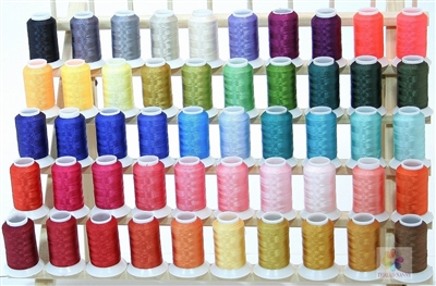 50 Cones Polyester Embroidery Thread in Brother Colors