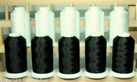 Polyester Machine Embroidery Thread in Black and White