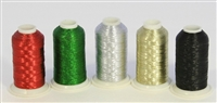Metallic Embroidery Thread Spools from ThreadNanny