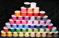 ThreadNanny 50 Spools of 7mm 100% Pure Silk Embroidery Ribbon