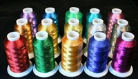 15 Mini King Cones of Metallic Machine Embroidery thread