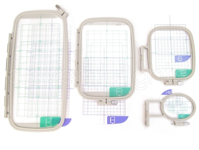 Threadnanny 4-Piece Embroidery Hoop Set - Replaces SA442 SA443 SA444 SA445 - Hoops for Brother Machines PE-770 700 700II 750D 780D Innov-is 1000 1200 1250D - Babylock Ellure Ellure Plus Emore
