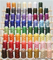 ThreadNanny 63 Brother Colors Embroidery Thread Set 40wt Polyester 1100yds