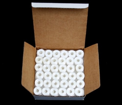 144 White Embroidery Machines PreWound Bobbins for Brother
