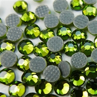 Hotfix 4mm Rhinestones in Lime Green  by ThreadNanny