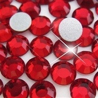 HotFix Rhinestones Crystals - 6mm/30ss CZECH Quality 2gross (288 pcs), Red Color