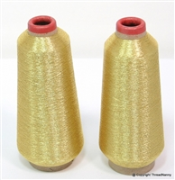 Gold Metallic Embroidery Thread Spools from ThreadNanny
