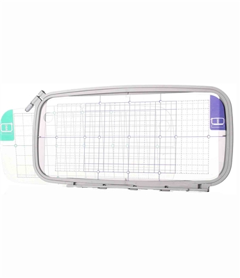 ThreadNanny 12x5 Embroidery Hoop w/ Grid for Brother, Babylock Ellure, Emore and Esante