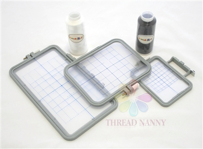 ThreadNanny 3-Hoop Set for Machine Embroidery