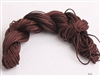 ThreadNanny 25 Yards of 2mm Satin Chinese Knot Cord in Dark Brown