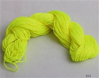 ThreadNanny 25 Yards of 2mm Satin Chinese Knot Cord in Fluorescent yellow