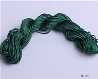 ThreadNanny 25 Yards of 2mm Satin Chinese Knot Cord in Forest Green
