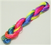 ThreadNanny 25 Yards of 2mm Satin Chinese Knot Cord in Multi Fluorescent