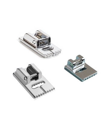 ThreadNanny Pintuck Groove Presser Foot Set including a 9 Groove, 7 Groove, and 5 Groove