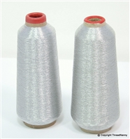 Silver Metallic Embroidery Thread Spools from ThreadNanny