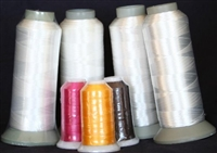 Extra Large Spools of White Bobbin Thread from ThreadNanny