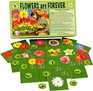 Flowers Are Forever cooperative math game from family pastimes