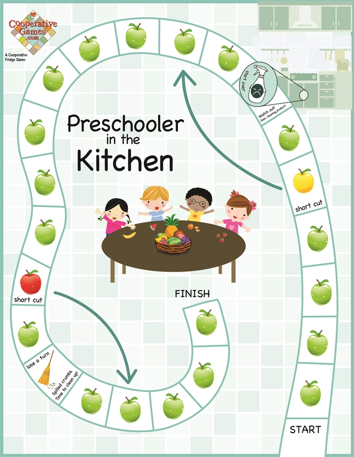 Preschooler In the Kitchen Cooperative Game for kids