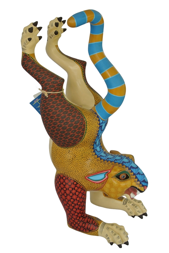 Playful Jaguar - Genuine Alebrijes de Oaxaca