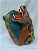 Jaguar and Coyote Clash - Genuine Oaxacan Alebrije for Sale