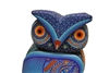 Colorful Blue Owl - Genuine Oaxacan Alebrije for Sale
